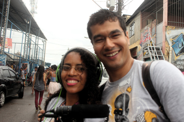 Mate Com Angu filmando curta novo no Meeting of Favela - Lu Brasil