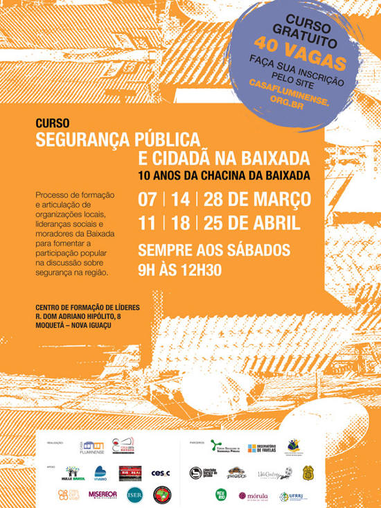 Read more about the article Inscrições abertas para o Curso de Segurança Pública na Baixada