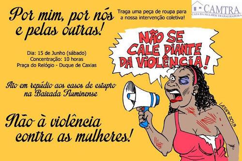 Read more about the article Ação em repúdio aos casos de estupro na Baixada Fluminense
