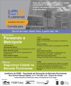 Read more about the article Seminário Pensando a Metrópole, da Casa Fluminense, na Uerj Baixada, nessa sexta-feira