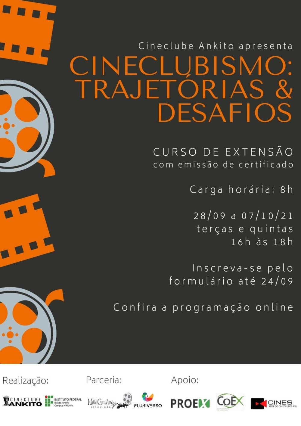 Read more about the article Inscrições para o curso de extensão Cineclubismo: Trajetórias e Desafios